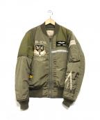 AVIREX(アヴィレックス)の古着「MA-1ジャケット」|カーキ