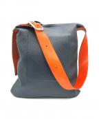 HENDER SCHEME(エンダースキーマ)の古着「one side belt bag」|ネイビー×オレンジ