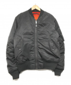 AVIREX(アヴィレックス)の古着「MA-1ジャケット」 ブラック