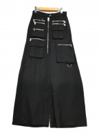 DIESEL(ディーゼル)の古着「ユーティリティワイドスカート」 ブラック