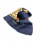 ()の古着「シルクスカーフ」 ネイビー