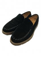 Caminando()の古着「スウェードスリッポン」 ブラック