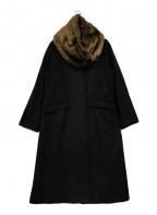 KBF(ケービーエフ)の古着「ファーティペットコート」|ブラック
