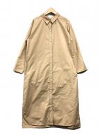 Demi-Luxe Beams(デミルクス ビームス)の古着「ロングカフスシャツワンピース」 ベージュ