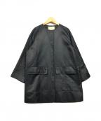 UNITED ARROWS(ユナイテッドアローズ)の古着「ワイドノーカラーコート」|ブラック