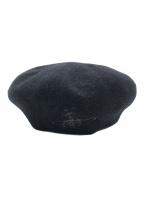Vivienne Westwood(ヴィヴィアンウエストウッド)の古着「刺繍ベレー帽」|ブラック
