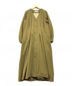 CELFORD()の古着「ブラウスワンピース」|カーキ