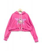 ()の古着「ショートパーカー」 ピンク