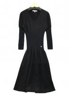 MaxMara(マックスマーラ)の古着「ニットシェイプワンピース」|ブラック