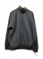 REMI RELIEF(レミレリーフ)の古着「ハーフジップスウェット」 グレー