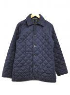 Traditional Weatherwear(トラディショナルウェザーウェア)の古着「ウールキルティングジャケット」 ネイビー