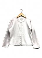 agnes b(アニエスベー)の古着「裏起毛スウェットカーディガン」|ホワイト