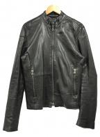 PREMIATA(プレミアータ)の古着「スタンドカラーレザージャケット」 ブラック