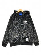 adidas(アディダス)の古着「CAMO SHERPA HOODIE」|ブラック