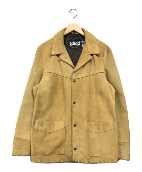 Schott(ショット)Schott (ショット) ウエスタンレザージャケット ベージュ サイズ:Mの古着・服飾アイテム