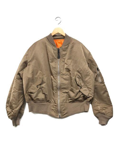 ALPHA(アルファ)ALPHA (アルファ) MA-1ジャケット ブラウン サイズ:XLの古着・服飾アイテム