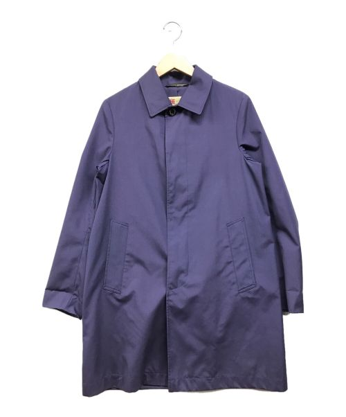 Traditional Weatherwear(トラディショナルウェザーウェア)Traditional Weatherwear (トラディショナルウェザーウェア) ステンカラーコート パープル サイズ:Sの古着・服飾アイテム