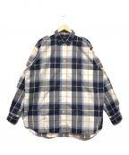 BEAMS()の古着「ビックサイズチェックシャツ」|ネイビー