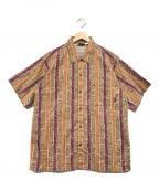 Patagonia()の古着「総柄シャツ」|ブラウン×パープル
