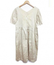 Jane Marple Dans Le Salon(ジェーンマープルドンルサロン)の古着「レース切替ワンピース」|ベージュ
