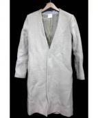 so1:1(ソウワンバイワン)の古着「ノイズツイードノーカラーコート」|ホワイト