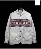 The Stylist Japan(ザスタイリストジャパン)の古着「リバーシブル中綿ジャケット」 ホワイト×ブラウン