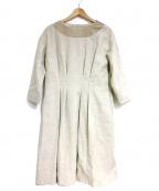 latelier du savon(アトリエドゥサボン)の古着「ワンピース」|ベージュ