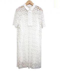 fig London(フィグロンドン)の古着「フラワーレースワンピース」|ホワイト