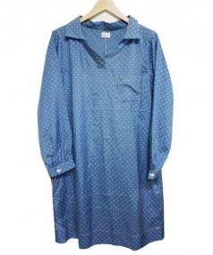 mallbgolloic(マルビコロイク)の古着「シルクワンピ」|ブルー