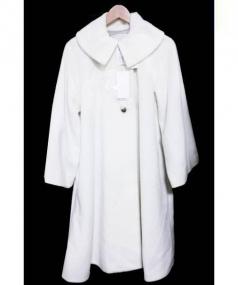 iki(イキ)の古着「Super100 BIGカラーロングコート」|ホワイト