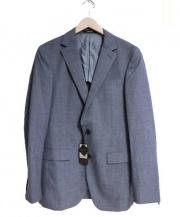 COMME CA MEN(コムサメン)の古着「撥水ナノテクノロジー2Bジャケット」 グレー