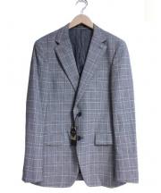 COMME CA MEN(コムサメン)の古着「ナノテクノロジーグレンチェックジャケット」 グレー