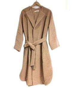 rukkilill(ルッキリル)の古着「ベルテッドロングコート」|キャメル