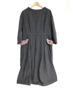 latelier du savon(アトリエ ドゥ サボン)の古着「ワンピース」 グレー