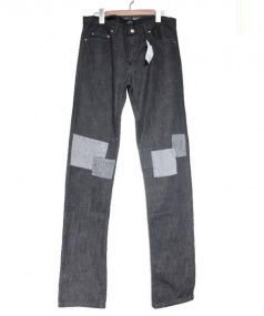A.P.C.(アーペーセー)の古着「パッチワークデニムパンツ」|ブラック