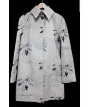 HANCOCK(ハンコック)の古着「ゴム引きステンカラーコート」 グレー