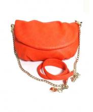 IRIS MAREE(イリス マレ)の古着「Wストラップショルダーバッグ」|オレンジ
