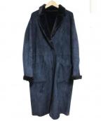 COLLAGE GALLARDAGALANTE(コラージュ ガリャルダガランテ)の古着「エコムートンコート」|ネイビー
