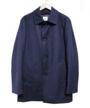 TAKEO KIKUCHI(タケオ キクチ)の古着「ヘリンボンバンクスシングルトレンチコート」 ネイビー