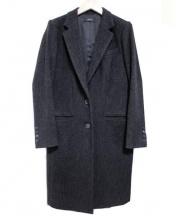 JOSEPH(ジョセフ)の古着「ラメツイードチェスターコート」 オリーブ・ブラック