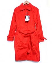 LACOSTE(ラコステ)の古着「ステンカラーコート」|レッド