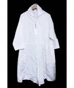 bulle de savon(ビュル デ サボン)の古着「ZIPロングコート」|ホワイト
