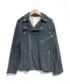 so1:1(ソウワンバイワン)の古着「GOAT SUEDEレザールーズライダースジャケット」|グレー