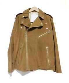 so1:1(ソウワンバイワン)の古着「GOAT SUEDEレザールーズライダースジャケット」|ブラウン