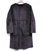 Droite lautreamont(ドロワットロートレアモン)の古着「リバーシブルエコムートンコート」|ブラウン