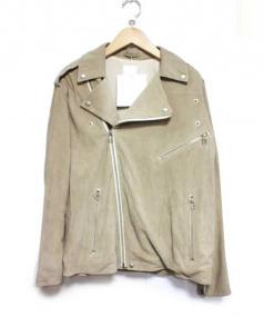 so1:1(ソウワンバイワン)の古着「GOAT SUEDEルーズライダース」|ベージュ