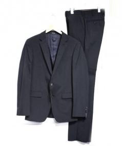 COMME CA MEN(コムサメン)の古着「ポリスシャドーセットアップスーツ」|ブラック