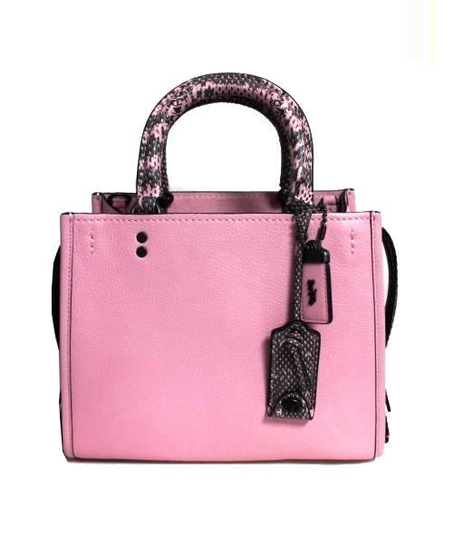 06c9fa35df3a 中古・古着通販】COACH (コーチ) Rogue 25 tote with Colorblock ピンク ...