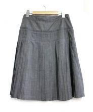 BURBERRY LONDON(バーバリーロンドン)の古着「プリーツスカート」|グレー