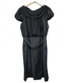 EPOCA(エポカ)の古着「ドッキングワンピース」|ブラック